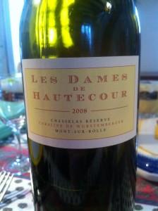 Les Dames de Hautecour - Chasselas Réserve 2008