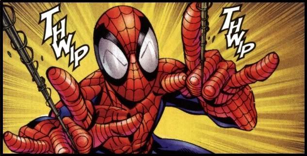 Sala de experimentación de la base secreta de Siniestro en la Luna Spiderman-thwip