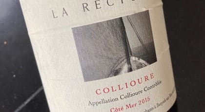 Bouteille de la cuvée Côté Mer, Collioure du Domaine de la Rectorie